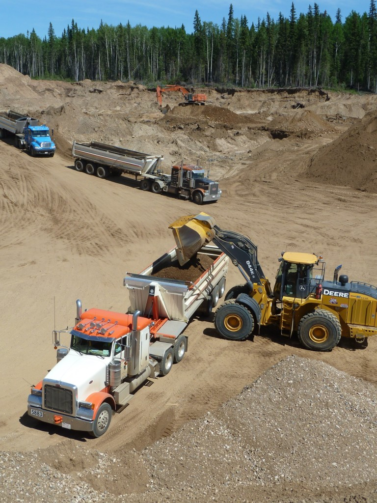 A gravel pit operation.